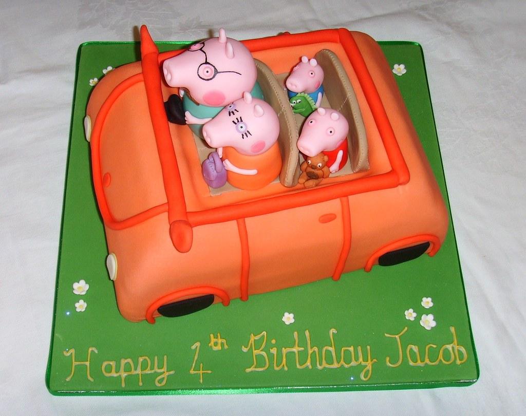 Peppa Pig Car Cake Peppa Pig Car Cake Thecustomcakesho Flickr