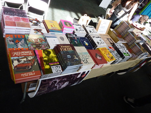 APE 2009 - Fantagraphics table | by fantagraphics