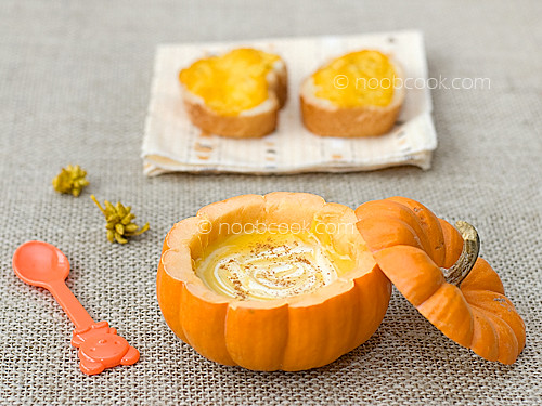 Creamy Pumpkin Soup  with Pumpkin Toast | by wiffygal