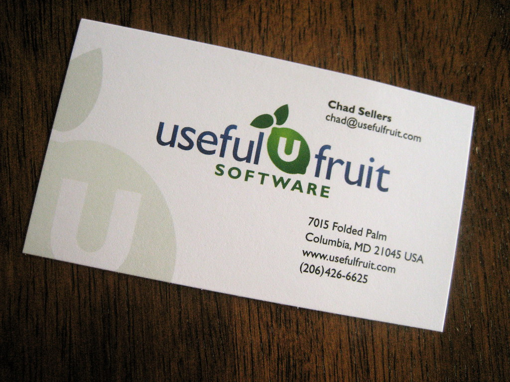 Useful Fruit Business Card: Front   Design for the front of …   Flickr