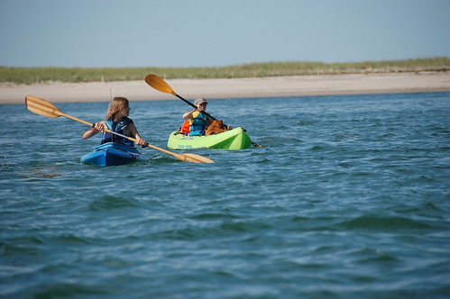 Michael, Crisi and Lucy bringing up the rear off Sandy Neck... | by rmcgervey