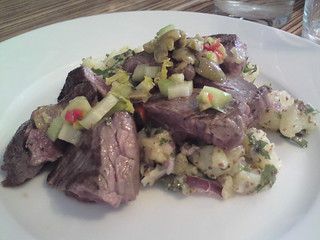 L'Office: Veal onglet and potato salad | by clotilde