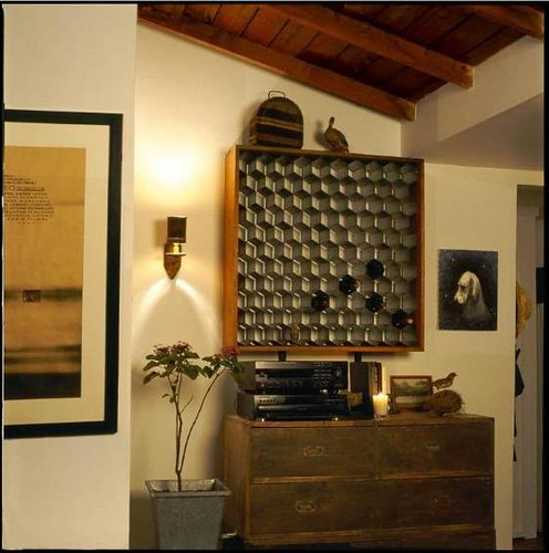 Ideas for small spaces wall mounted honeycomb wine storag flickr Wine racks for small spaces pict