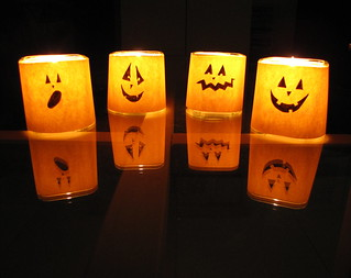 Super Easy Halloween Candles | by sharon-lizette