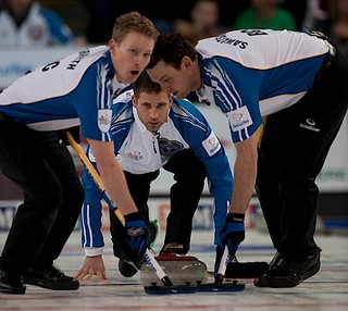 Kamloops B.C.Mar9_2014.Tim Hortons Brier.B.C. skip John Morris,lead Rick Sawatsky,second Tyrel Griffith.CCA/michael burns photo | by seasonofchampions