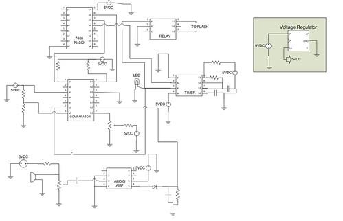 final circuit diagram for sound trigger