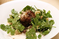 Grilled lamb neck with white bean skordalia | by The Second Pancake