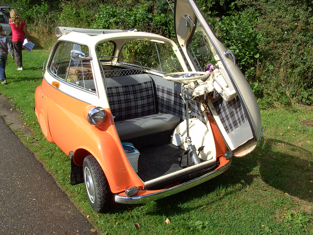 1960 bmw isetta 300 | the car is actually amazingly comforta… | flickr