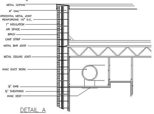 Cross Section Detail Duct Work Ceiling Rachel Rubenstein