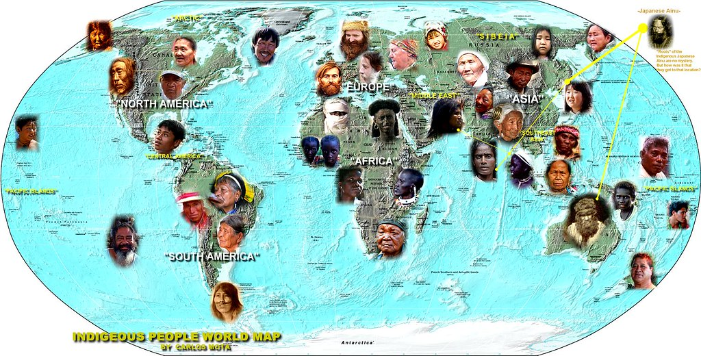 indigenous people world map by carlos mota aboriginal cu flickr