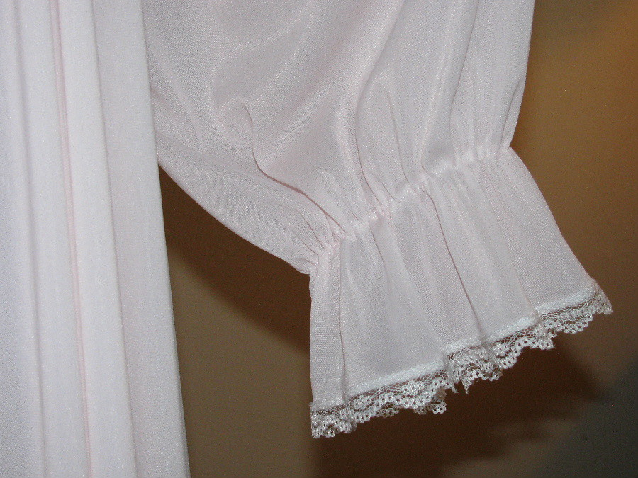 Miss Elaine Pale Pink Antron Nylon Nightgown Ruffled Sleev…   Flickr