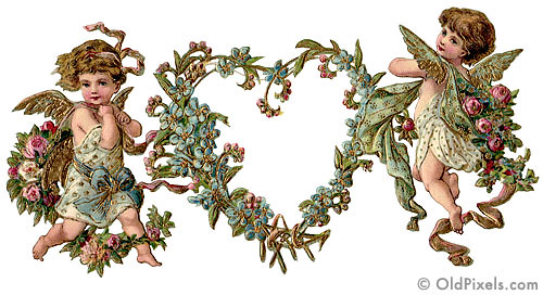 Vintage Victorian Valentines 2 of 4 A delicate diecut – Victorian Valentines Cards