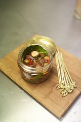Pata Negra: housemade smoked octopus escabeche | by Abstract Gourmet