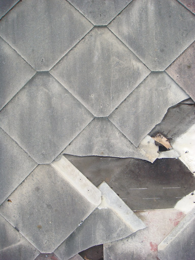 ... Damaged Asbestos Cement Roof Shingles   By Asbestorama