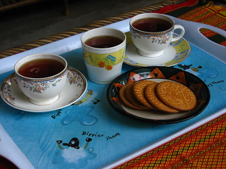 3 cups of tea and biscuits | by sankarshan