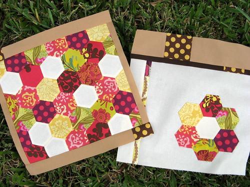 Both blocks for November Bee Modern | by Cut To Pieces