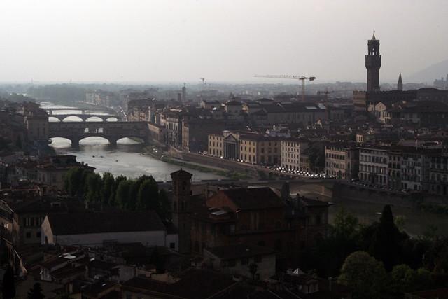 El Arno y Florencia