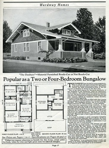 Antique house plans from wardway kit for Vintage home floor plans