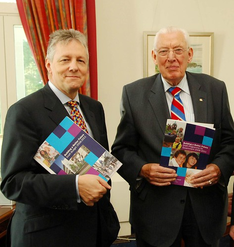 Peter Robinson and Dr Ian Paisley with Programme for Government | by DUP Photos