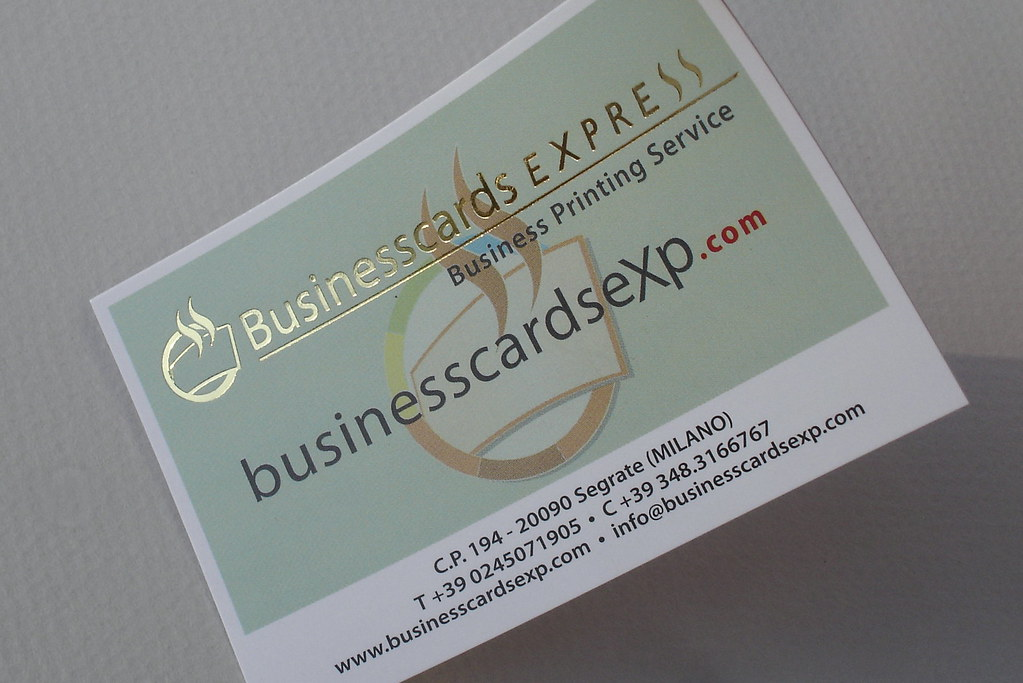 Business Card W Hot Foil Stamping Business Card Premium Flickr