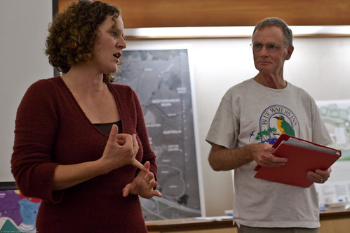 CA State Parks Resource Ecologist, (with host David Keeling (R)), presents to the Morro Coast Audubon Society | by mikebaird