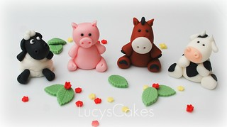 animal wedding cake toppers uk farm animal edible cake topper cow pig sheep flickr 10775