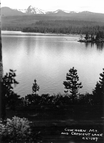 Cowhorn Mountain and Crescent Lake, Oregon | by OSU Special Collections & Archives : Commons