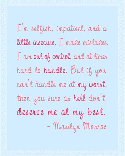 letter of apology at my best marilyn quote in pink on light blue 22929 | 3469069449 b0e0a47b9e
