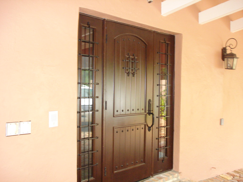 Mahogany Front Doors Wrought Iron Speak-easy Grill with Si… | Flickr