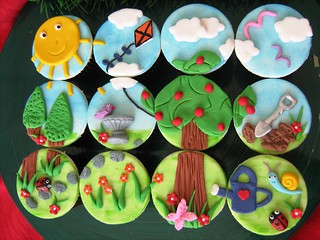 garden landscape cupcakes | by cherries and chives-zaheera badat