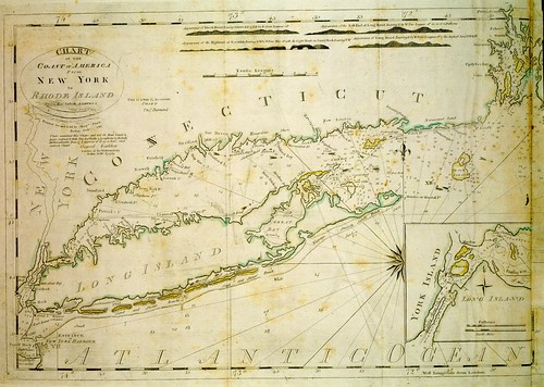 Chart of the coast of America from New York to Rhode Island | by uconnlibrarymagic