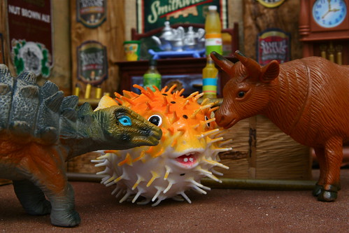 Day 152 - An Ankylosaur, A Cow, and a Porcupine Fish Walk Into a Bar.... | by puuikibeach