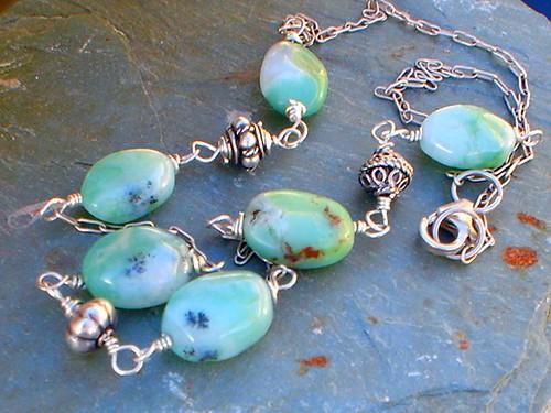 White Opal Silver Rings