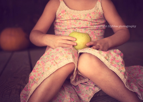 girl with apple.  and pumpkin. | by {leah}