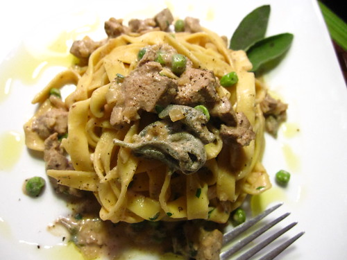Tagliatelle with Calves Liver, Sage Cream Sauce | by SeppySills