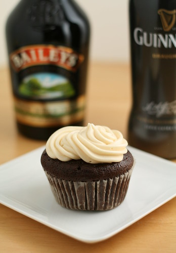 Chocolate Guinness Cupcake with Bailey's Frosting | by Nook & Pantry