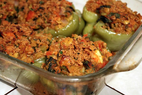 lentil stuffed peppers 1 | by veganjay92