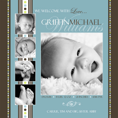 birth announcement free template