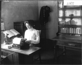 Secretary at typewriter 1912 | by Miami U. Libraries - Digital Collections