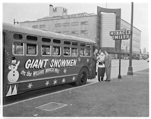MCL Bus and Santa Claus MTA_0534 | by Metro Transportation Library and Archive