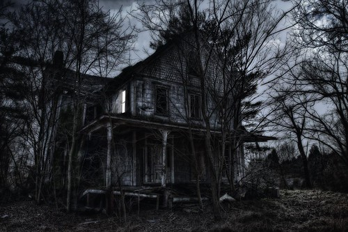 OLD House 1 at night (Just for fun Photoshopped