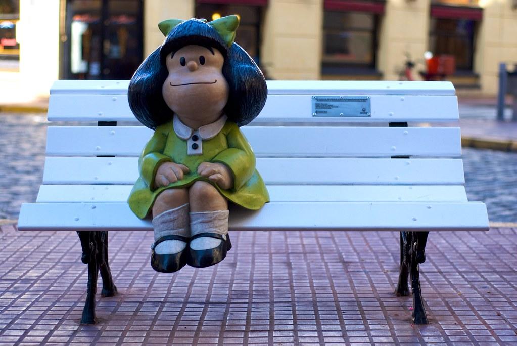 Statue de Mafalda à Buenos Aires