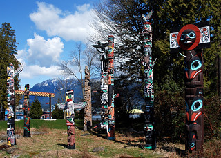 Totems in Stanley Park, Vancouver | by jthornett