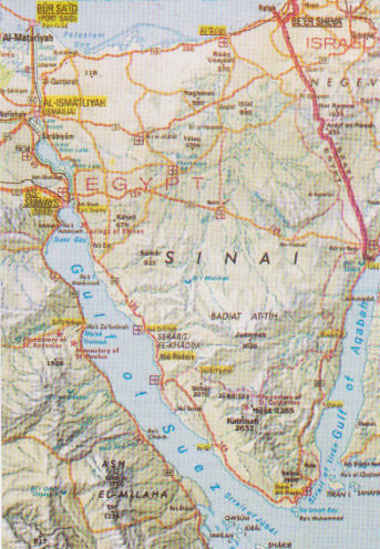 Map of Sinai Peninsula - Egypt   Yvonne Cooper   Flickr