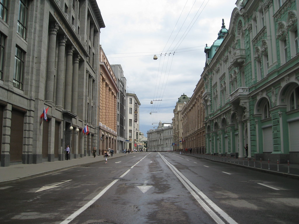 Empty Street Of Moscow