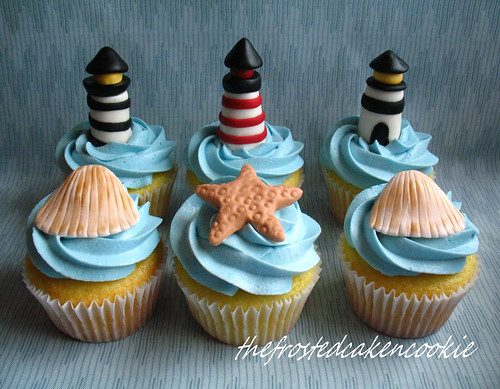 Tuesday Toppers: Lighthouse Cupcakes | by jewelsb78(thefrostedcakencookie)