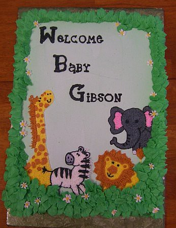 Animal Safari Baby Shower Cake Terri Kessler Flickr