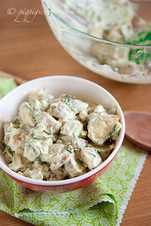 Creamy Potato Salad with Chives & Gherkins | by pigpigscorner