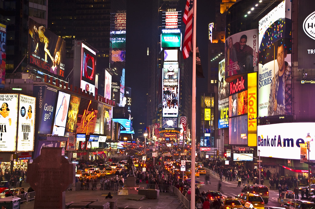 Times Square, New York, During Christmas 2008 | View Large O ...