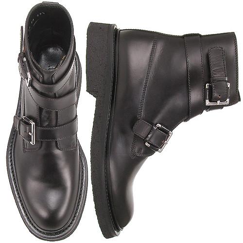 17299fb2b930 ... Dior Homme Black Buckle Strap Lug Boots Sz 42-43.5  550   by  misterpretender